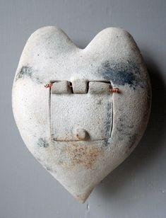 door to the heart (white) coil built wall piece. by Heidi Pratt