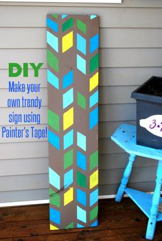 DIY: Make your own Trendy Sign using ScotchBlue Painter's Tape! #DIY #home #crafts #paint