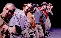 Hofesh Shechter working with his dancers on 2007's ferocious 'Uprising'