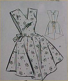 Vintage Bib Apron Full Size Pattern Best X LARGE 1950s Sewing Fabric Project