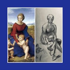 Here you can see the comparison with the original painting (my sketch was actually copied from the sketch of Raphael) Italian Painters, Madonna, Renaissance, Original Paintings, The Past, Sketches, Profile, Drawings, Art
