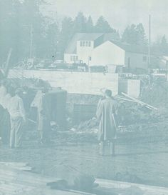 Construction of the EMU student union 1948. From the 1949 Oregana (University of Oregon yearbook). www.CampusAttic.com