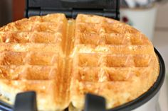 I try to resist having too many kitchen gadgets squeezed into my apartment's small galley-style kitchen, but somehow I ended up with two waffles irons. One for flatter, traditional waffles an… Galley Style Kitchen, Belgian Waffles, Breakfast Recipes, Breakfast Ideas, Bisquick, Waffle Iron, How To Make Breakfast, Waffle Recipes