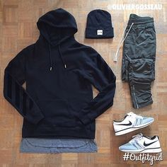 Today's top #outfitgrid is by @oliviergosseau. ▫️#OffWhite #Hoodie ▫�