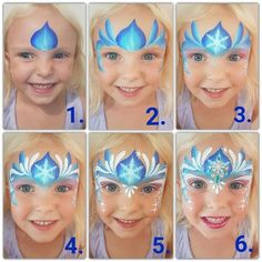 The Ultimate Frozen Face Painting Guide Face Painting Butterfly Easy, Disney Face Painting, Princess Face Painting, Face Painting Tips, Christmas Face Painting, Girl Face Painting, Face Painting Tutorials, Face Painting Designs, Face Paintings