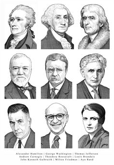 Pen & Ink Portraits for the Smithsonian on Behance