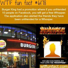 WTF fun facts:  Burger King