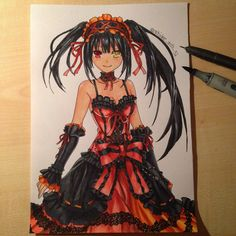 Tokisaki Kurumi  Drawing with Copic Markers