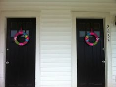 Wreaths I made for my front doors