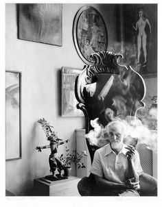 "© Arnold Newman, 1942, Portrait of Max Ernst, New York ""As for myself, I work the way I do because of the kind of person that I am – my work is an expression of myself. It reflects me, my fascination with people, the physical world around us, and the exciting medium in which I work. I do not claim that my way is the best or the only way, it is simply my way. It is an expression of myself, of the way I think and feel."" (Arnold Newman, A Life in Photography) Arnold Newman (1918-2006) is ..."