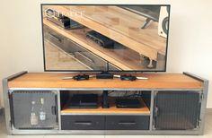Shop Cabinets, Tv Cabinets, Salon Interior Design, Home Interior, Rack Tv, Home Modern, Design Apartment, Sconce Lighting, Metal Furniture