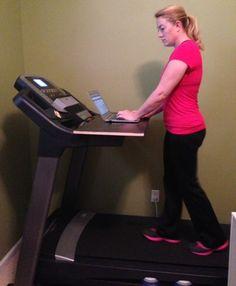 The Makings Of A Walking Treadmill Desk | http://savingthefamilymoney.com/the-makings-of-a-walking-treadmill-desk/