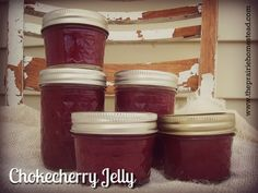How to make chokecherry jelly-- includes low-sugar and honey variations.