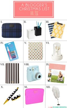 ::My blogger Christmas list <<< Being a blogger means ya gotta be prepared. Like, at all times you can find me lugging my laptop, camera, iPhone, iPad, & Kate Spade day planner around town.::