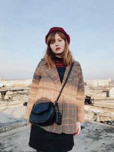 Kristina Magdalina - Metisu Beret, Poppy Lovers Coat, Metisu Bag - Sunny Winter Day