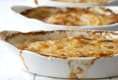 A classic Potato Gratin with a twist - Green Chile. Recipe from @Bijouxs #SideofOXO