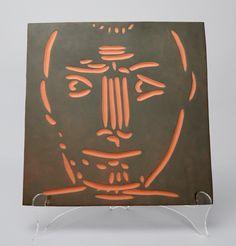 Pablo Picasso, Visage d'homme (Man's Head), 1968-1969  Picasso Ceramic at Masterworks Fine Art