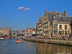 15 Photographs That Show Why You Should Travel To Begium -  The historic houses on the canal in Ghent.