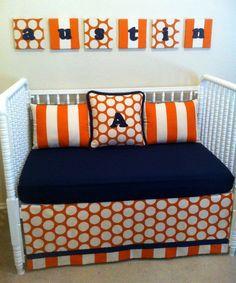 Auburn nursery -  Colorful stripes and dots