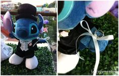 For the ring bearer, instead of holding a pillow, carry down a stuffed animal. Stitch / Disney Weddings