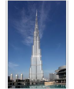 Burj Kahifa, Dubai, United Arab Emirates - tallest man-made structure in the world