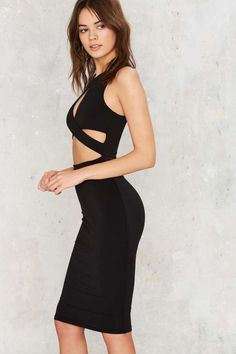 Nasty Gal Heart of a Champion Cutout Dress - Clothes | Going Out | Midi + Maxi | LBD | Dresses