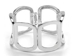 A quick way to add a finishing touch, compliment any look with this hinged open square cuff bracelet. Silver tone finish Hinge closure 9 inches (height) in Summer Office, Office Essentials, Bracelets, Silver, Jewelry, Bangles, Jewellery Making, Money, Arm Bracelets