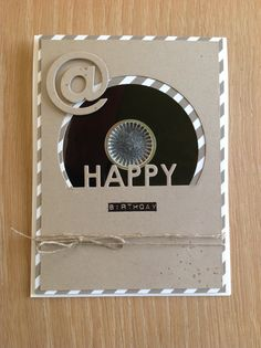 Schallplatten Karte, Musik Karte, Single Karte, Retro Karte, Music Card, Stampin'Up, SU, Geburtstagskarte, Diskette, Upcycling,