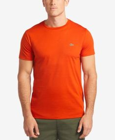LACOSTE Lacoste Men'S Crew-Neck Pima Cotton T-Shirt. #lacoste #cloth #shirts