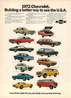Vintage Car Advertisements of the (Page Chevy Impala, Chevrolet Chevelle, Chevrolet Usa, Old Advertisements, Car Advertising, Automobile, Camaro Z, Chevy Muscle Cars, Gm Car