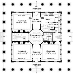 Federal style home floor plans
