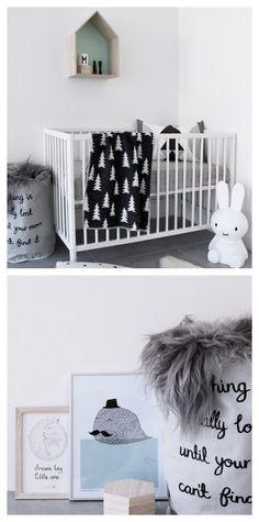 Scandinavian  baby nursery