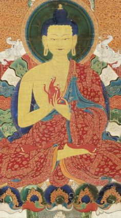 beautiful thangka painting of Shakyamuni Buddha (Museum of Fine Arts, Boston)