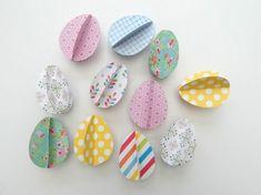 hübsche Ostereier basteln mit Kindern aus Papier