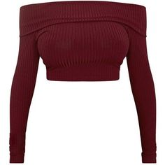 Shape Chastity Burgundy Ribbed Bardot Top ❤ liked on Polyvor Lila Outfits, Teen Fashion Outfits, Teenager Outfits, Cute Casual Outfits, Mode Outfits, Women's Fashion, Cropped White Shirt, Crop Shirt, Cropped Tops