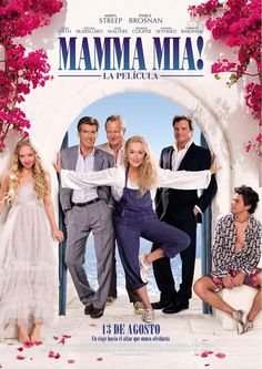 Directed by Phyllida Lloyd. With Meryl Streep, Pierce Brosnan, Amanda Seyfried, Stellan Skarsgård. The story of a bride-to-be trying to find her real father told using hit songs by the popular group ABBA. Pierce Brosnan, Mamma Mia, Musik Charts, Love Movie, Movie Tv, Crazy Movie, Stellan Skarsgard, Comedia Musical, Dominic Cooper