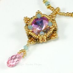 Crystal Charm Necklace by Kate Tracton Designs. Small but oh so sparkly!