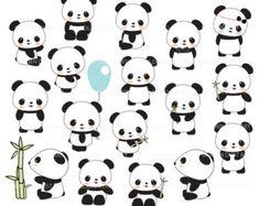 Imágenes Prediseñadas de Panda bebé por LittleMoss en Etsy