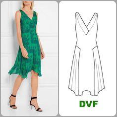 "DVF ""Dita"" dress in silk georgette"