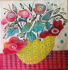 See what Artists taking the online class Painting Flowers from imagination in mixed media have been painting here Abstract Flowers, Watercolor Flowers, Painting Flowers, Floral Paintings, Space Painting, Encaustic Painting, Art For Art Sake, Flower Art, Mixed Media