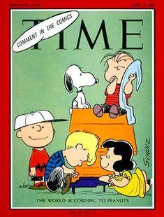 Quadrinhos também tem vez na Time: Peanuts foi capa em abril de 1965