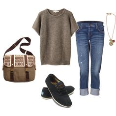 I love this. But I would replace the shoes with my own brown Keds