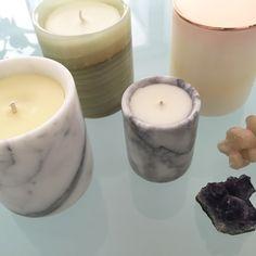 PRECIOUS STONE + MARBLE Soy-Wax Candles | Island Luxe Homewares | dosombre.com