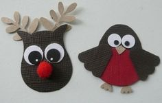 Christmas Critters using Stampin Up Owl Punch by melody