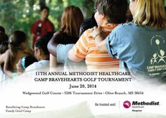 Next Friday, June 20, you can support Camp Bravehearts at our 11th annual golf tournament. This family grief camp is provided free of charge through generous contributions! http://www.methodisthealth.org/news-and-events/events/2014/camp-bravehearts-golf-tournament.dot