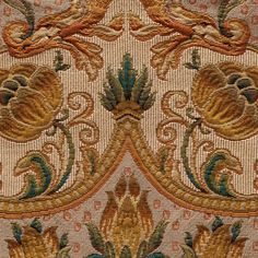 ANICHINI Fabrics | Ottoman Curry Residential Fabric - a neutral Italian tapestry fabric