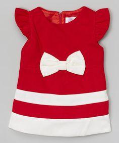 Love this Red Bow Wool-Blend Dress - Toddler & Girls on #zulily! #zulilyfinds