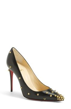 Christian Louboutin 'Spike' Pointy Toe Pump available at #Nordstrom