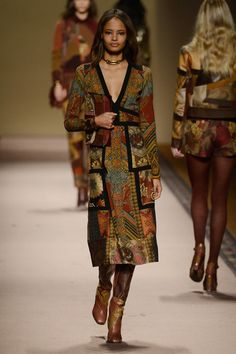 Malaika Firth at Etro - Milan Fashion Week F/W 2015