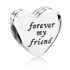 Pandora Silver Mother And Friend Heart Charm 791518   The Jewel Hut